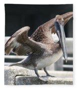 Pier Pelican Fleece Blanket