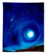 Rising Desert Moon Fleece Blanket