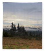 Rising From The Mist Fleece Blanket