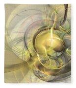 Rising - Abstract Art Fleece Blanket by Sipo Liimatainen