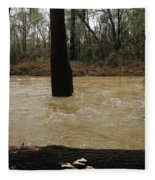 Rising Waters With Timber Fleece Blanket