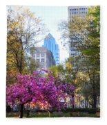 Rittenhouse Square In Springtime Fleece Blanket