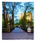 Rittenhouse Square Park Fleece Blanket