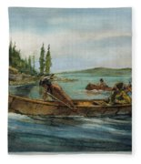 Rival Fur Traders  Fleece Blanket