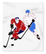 Rivalries Canadiens And Nordiques Fleece Blanket