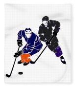 Rivalries Oilers And Kings Fleece Blanket