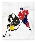 Rivalries Penguins And Capitals Fleece Blanket