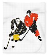 Rivalries Penguins And Flyers Fleece Blanket