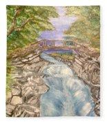 River Bridge Fleece Blanket
