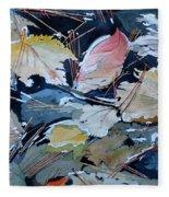 River Leaves Fleece Blanket