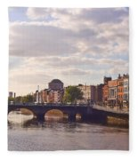 River Liffey 2 - Dublin Fleece Blanket