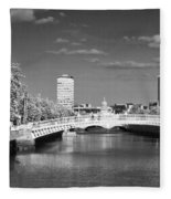River Liffey - Dublin Fleece Blanket