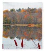 River Mirror Autumn Fleece Blanket