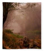 River Mist On A Mystical Morning Fleece Blanket