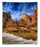 River Of Gold Fleece Blanket