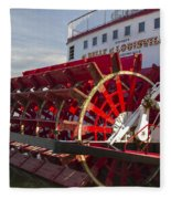 River Paddle Steamer Fleece Blanket