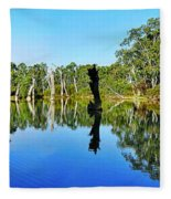 River Panorama And Reflections Fleece Blanket