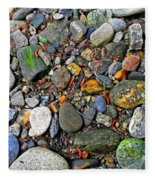 River Rocks 22 Fleece Blanket