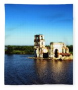 River Ruins Fleece Blanket