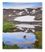 River San Juan And Lakes At Sunset Fleece Blanket