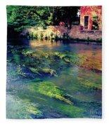 River Sile In Treviso Italy Fleece Blanket