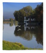 River Thames At Cookham Fleece Blanket