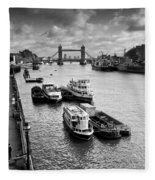 River Thames View Fleece Blanket