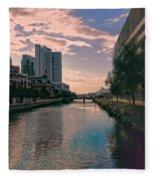River Through Baltimore Fleece Blanket
