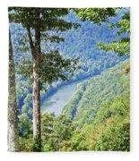 River Thru The Trees Fleece Blanket