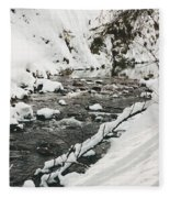River Vertical Fleece Blanket