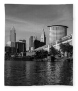 River View Of Cleveland Ohio Fleece Blanket