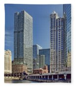 River View Skyline Fleece Blanket