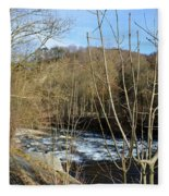 River Waterfall Fleece Blanket