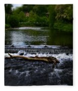 River Wye - In Peak District - England Fleece Blanket