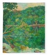 Riverview Reflections Fleece Blanket