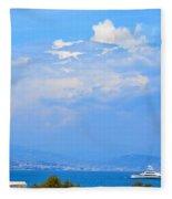 Riviera Blues Fleece Blanket