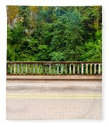 Road And Lush Green Forest Fleece Blanket
