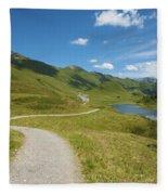 Road In The Mountains Fleece Blanket