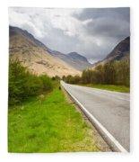 Road Into Glen Coe Fleece Blanket