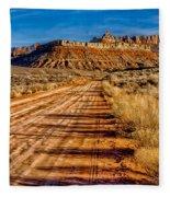 Road Into Solitude Fleece Blanket