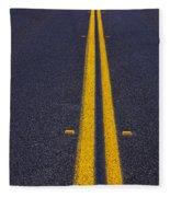 Road Stripe  Fleece Blanket