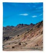 Road Through Badwater Fleece Blanket