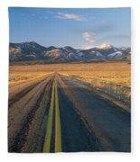 Road Through Desert Fleece Blanket