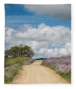 Road Through Lupine Fleece Blanket