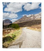 Road To Beinn Eighe Fleece Blanket