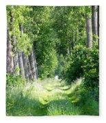 Road To Bruges Fleece Blanket