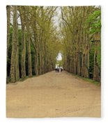 Road To Chenonceau Fleece Blanket