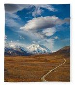 Road To Denali Fleece Blanket