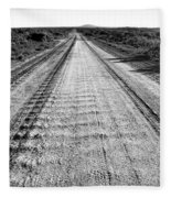Road To Everywhere Bw Fleece Blanket