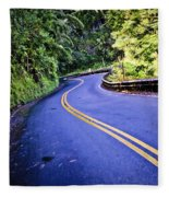 Road To Hana Fleece Blanket